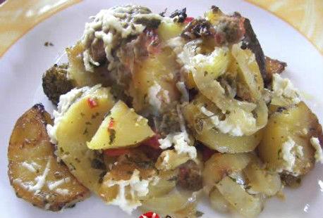 Μανιτάρια πλευρώτους με πατάτες